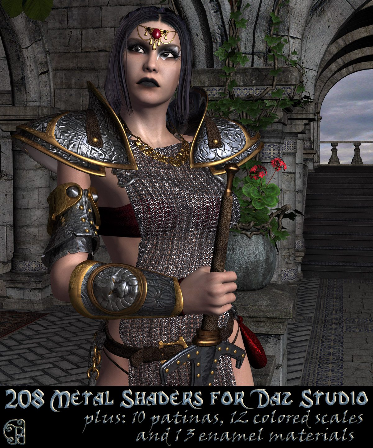 Pd-Metals Daz Studio Shaders_DAZ3D下载站