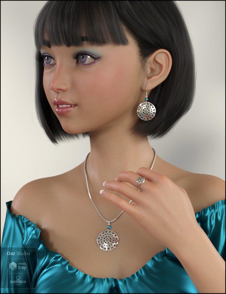 Pierced Hearts Jewelry for Genesis 8 Female(s)_DAZ3D下载站
