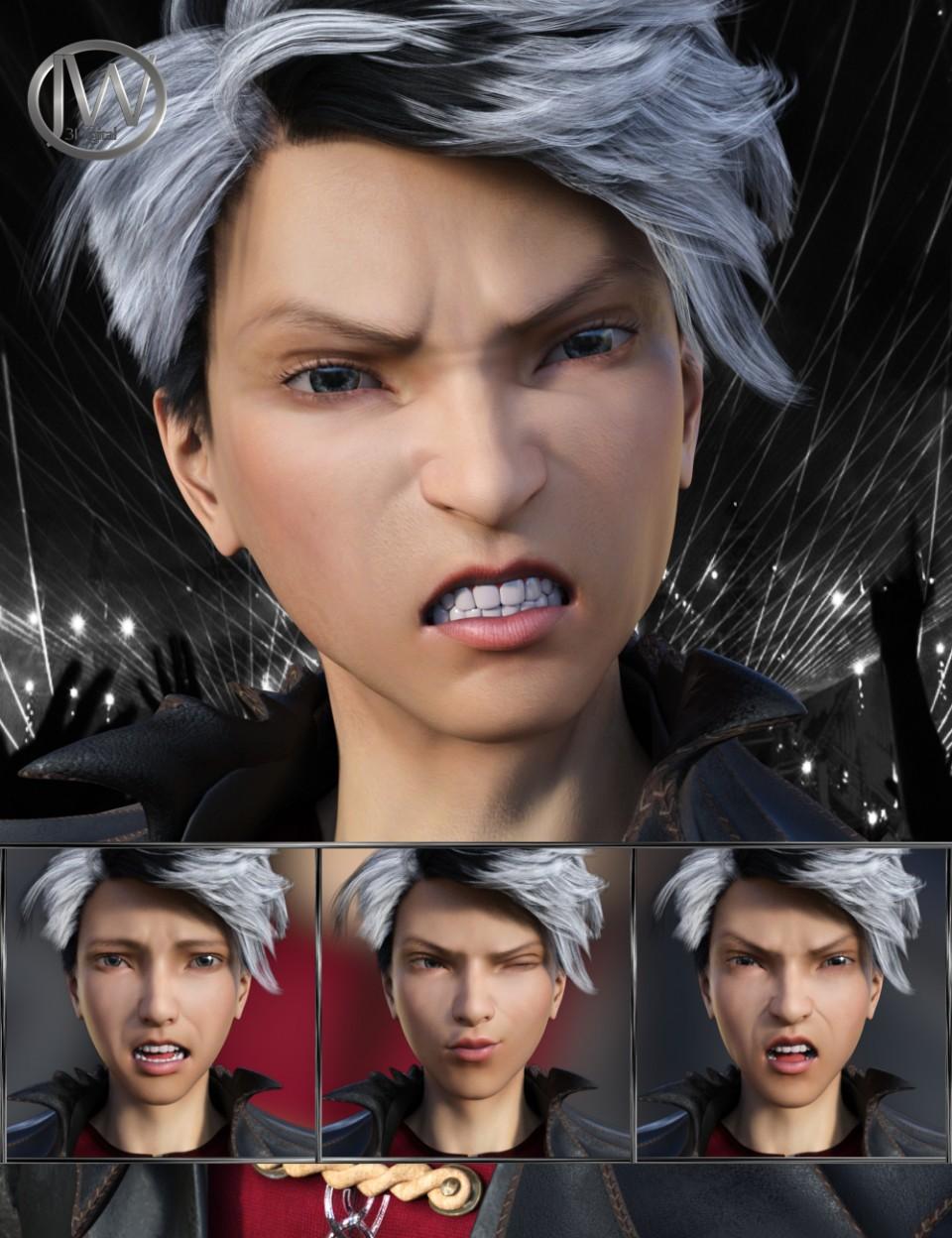 Pop Style – Expressions for Genesis 8 Male and Yuzuru 8_DAZ3D下载站