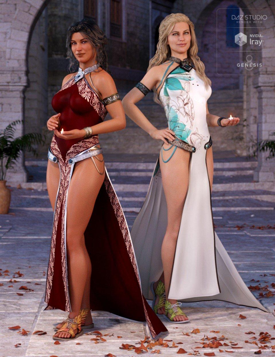Princess of Light Outfit Textures_DAZ3D下载站