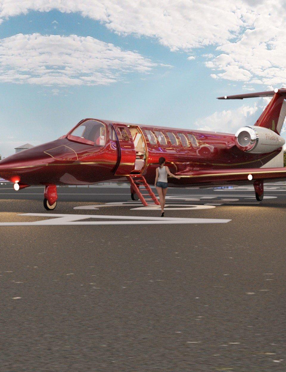 Private Jet Iray_DAZ3D下载站