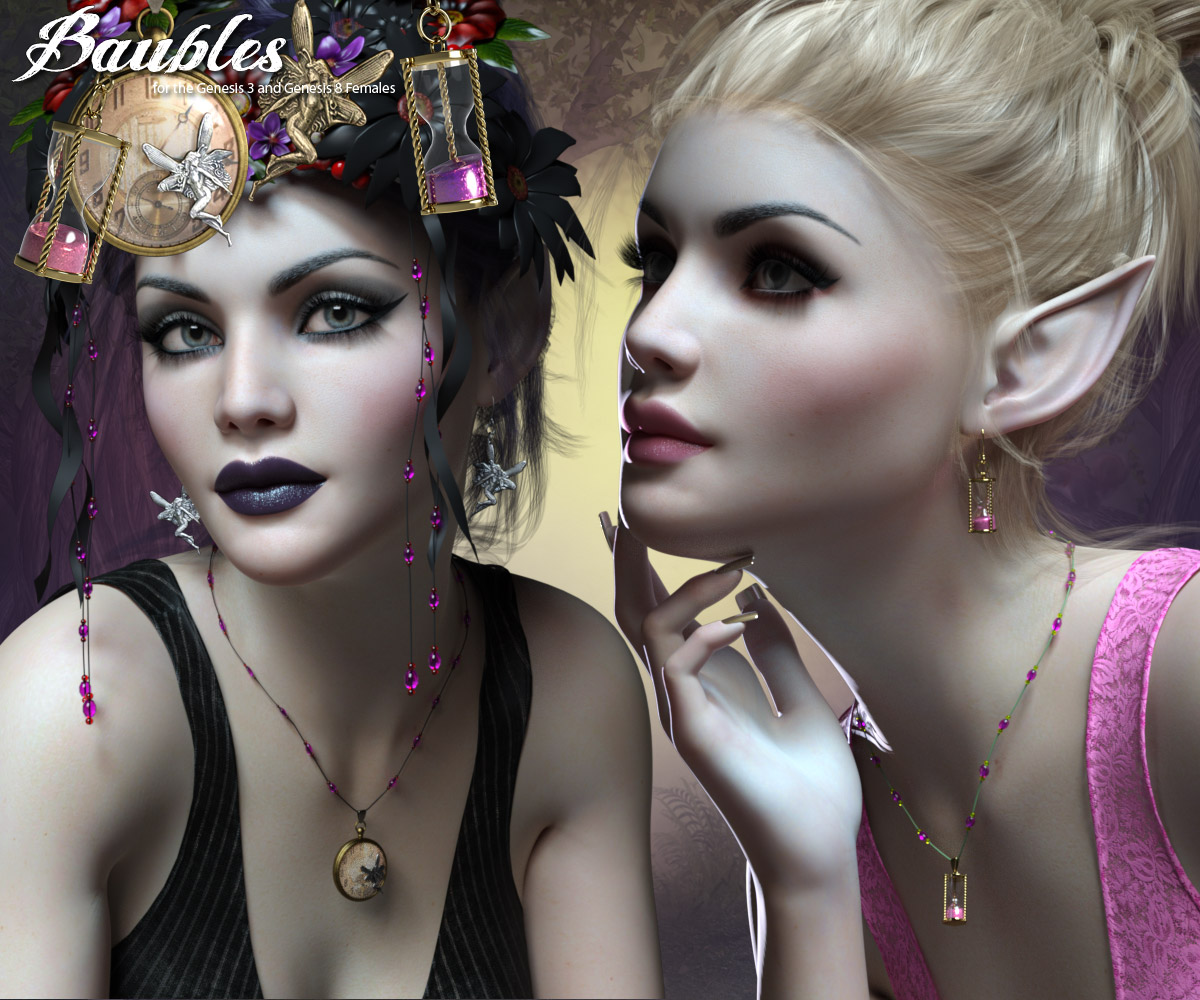 RP Baubles for the G3 and G8 Females_DAZ3D下载站