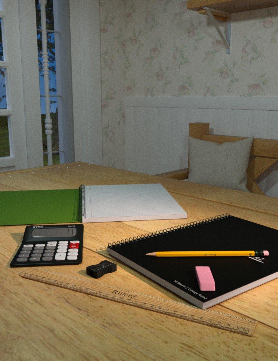 Ready for School Supplies_DAZ3D下载站