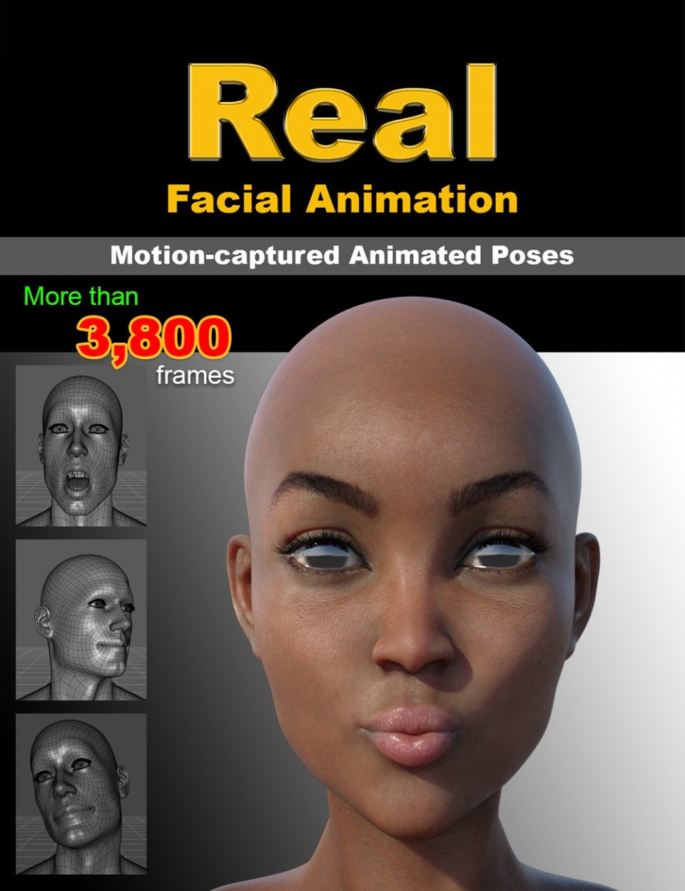 Real Facial Animation for Genesis 8 Males(s) and Female(s)_DAZ3D下载站