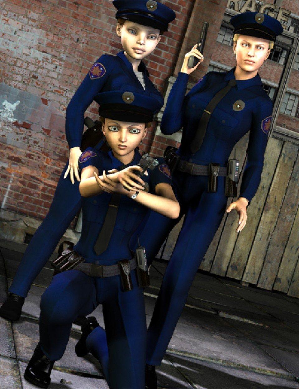 Real World Heroes Police Officer V4 A4 G4_DAZ3D下载站