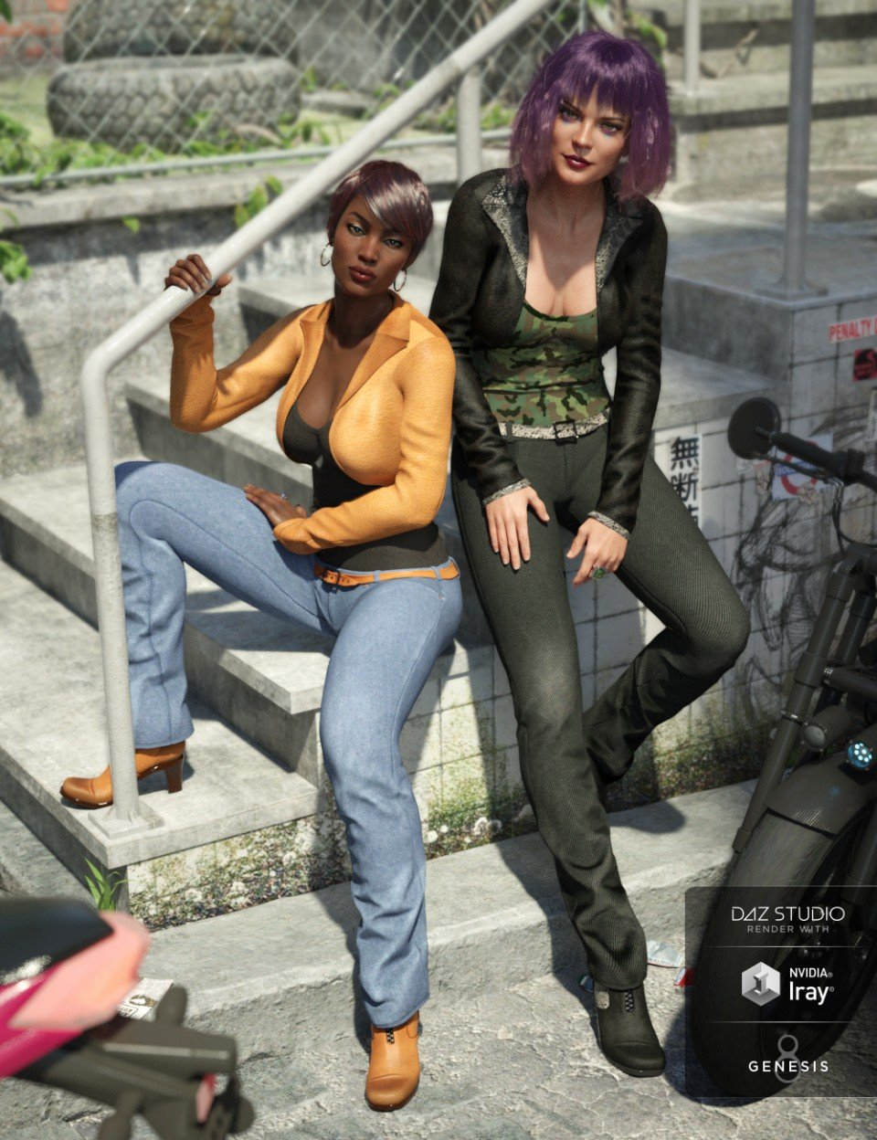 Riviera Noon Outfit Textures_DAZ3D下载站