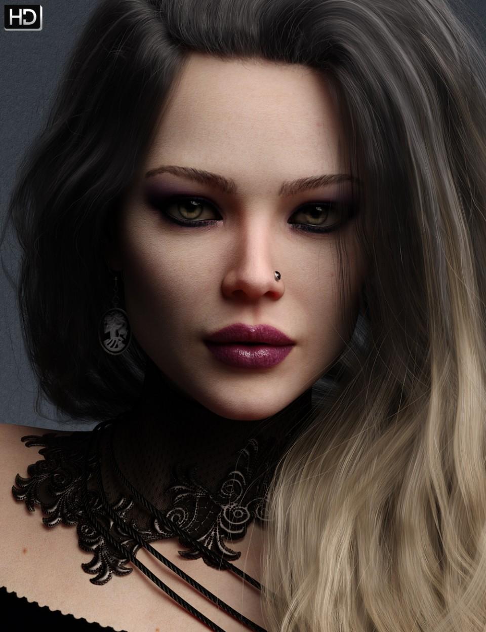 Sasha HD for Genesis 8 Female_DAZ3D下载站