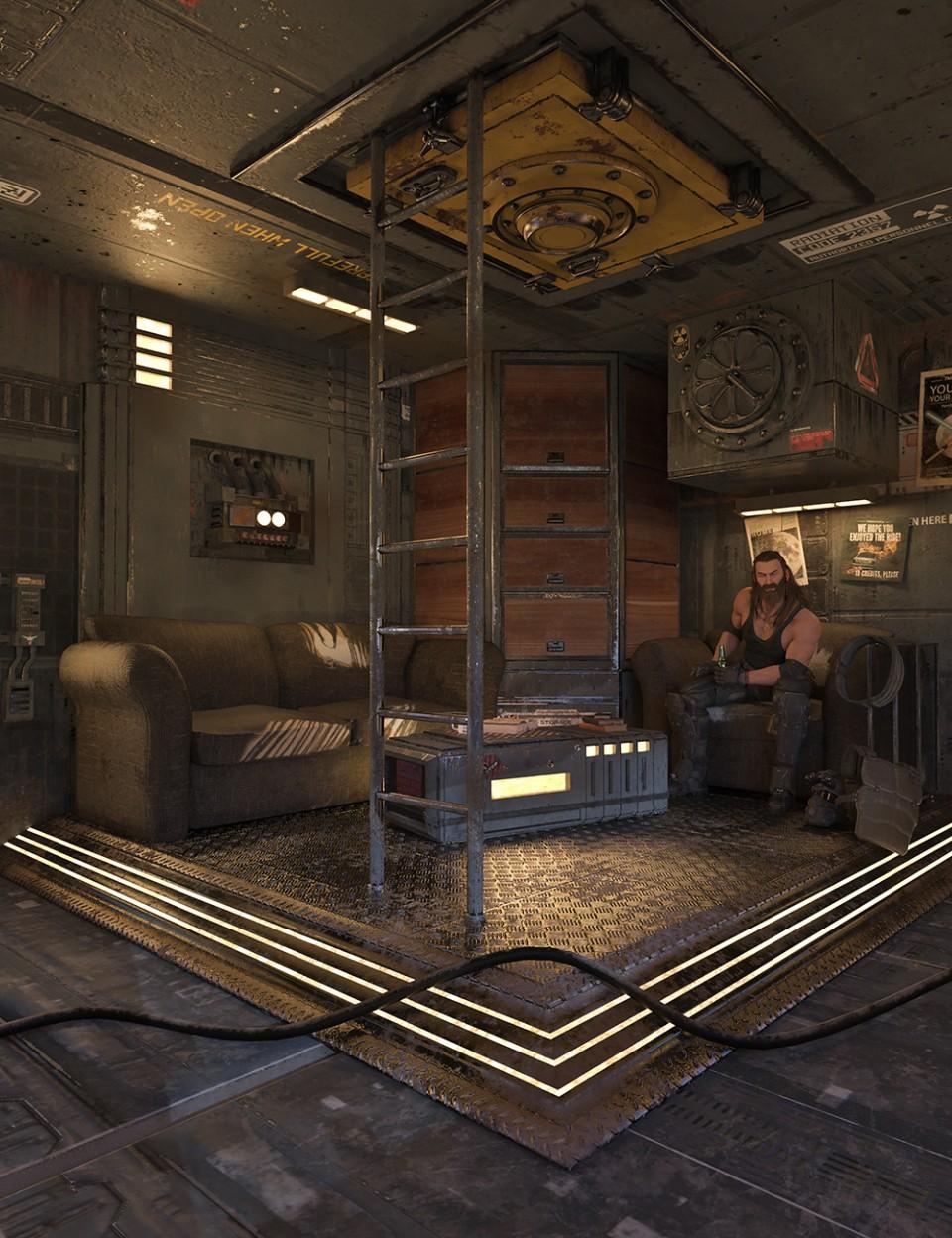 SciFi Living Room_DAZ3D下载站