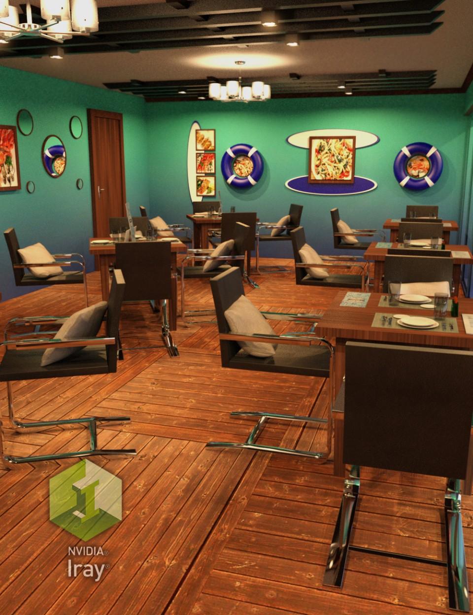 Seafood Restaurant_DAZ3D下载站