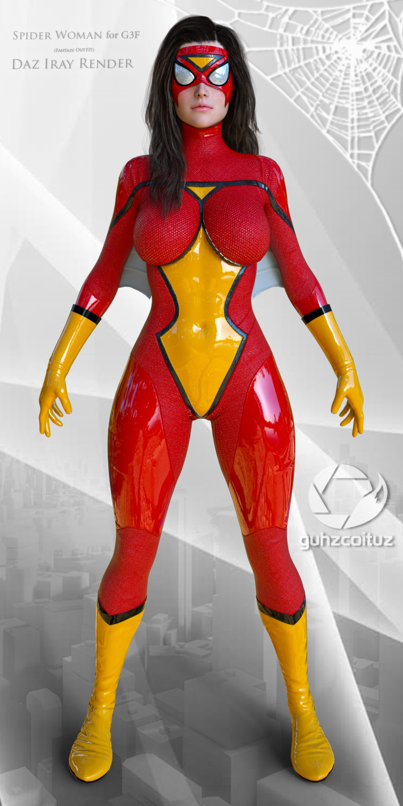 Spider Woman Suit for G3F_DAZ3D下载站