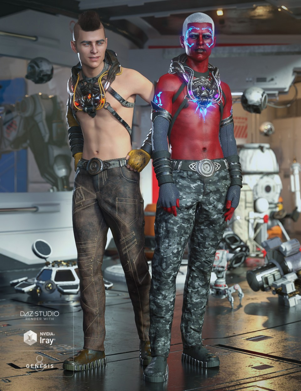 Symbiont Outfit Textures_DAZ3D下载站