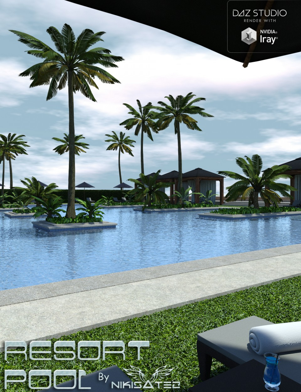 The Resort Pool_DAZ3D下载站