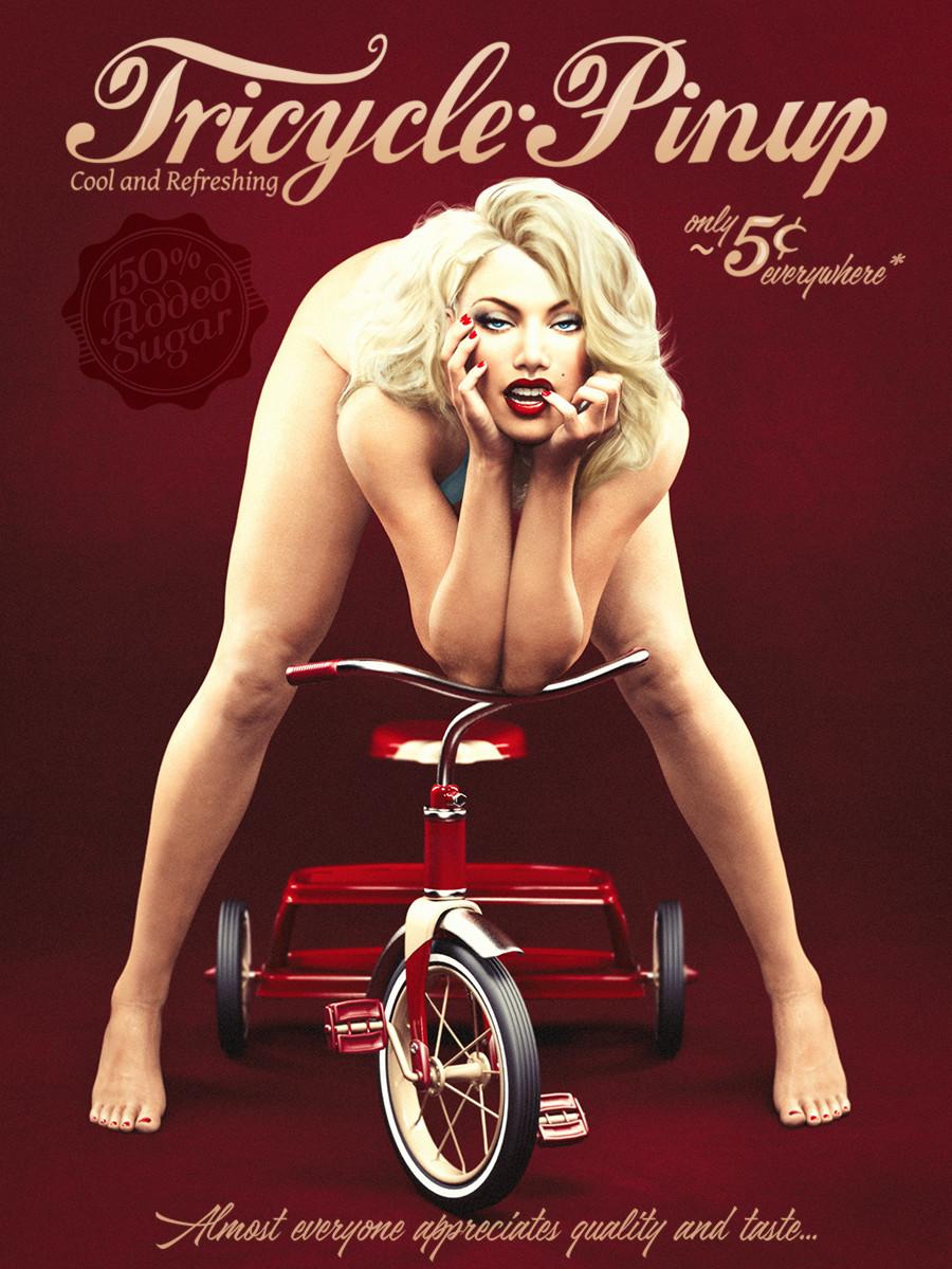 Tricycle Pinup_DAZ3D下载站