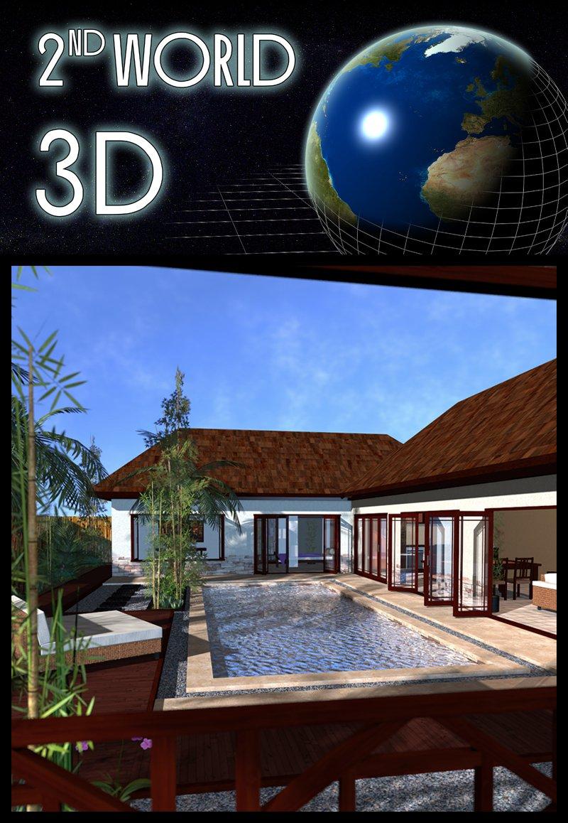 Tropical Villa, Bali_DAZ3D下载站
