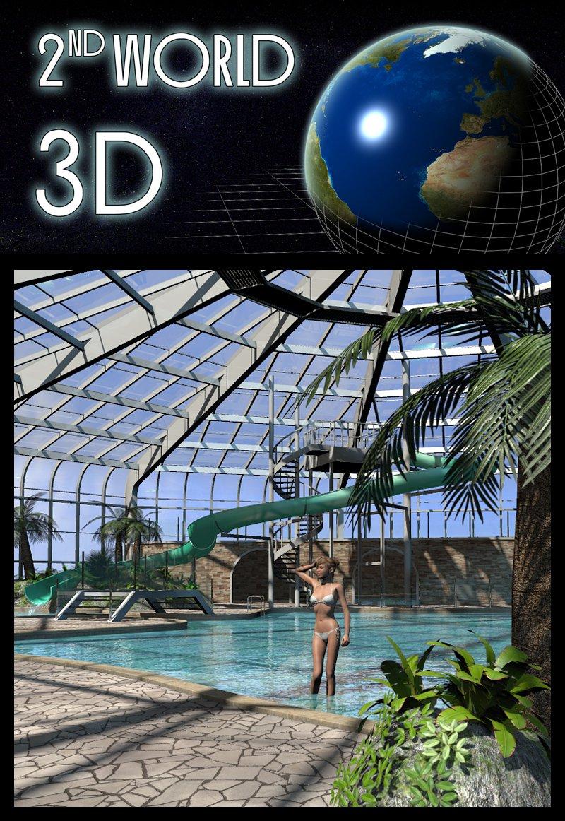 Tropical Indoor Public Pool_DAZ3D下载站