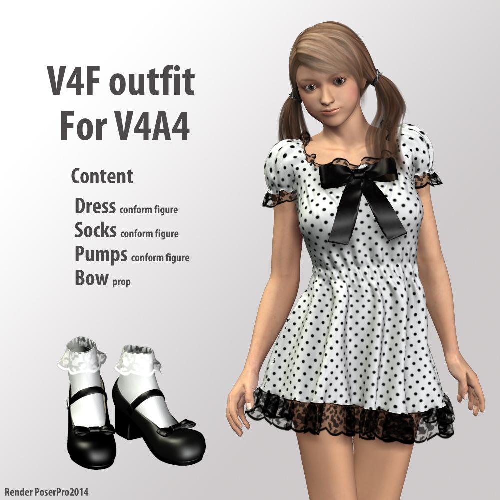 V4F outfit for V4A4_DAZ3D下载站