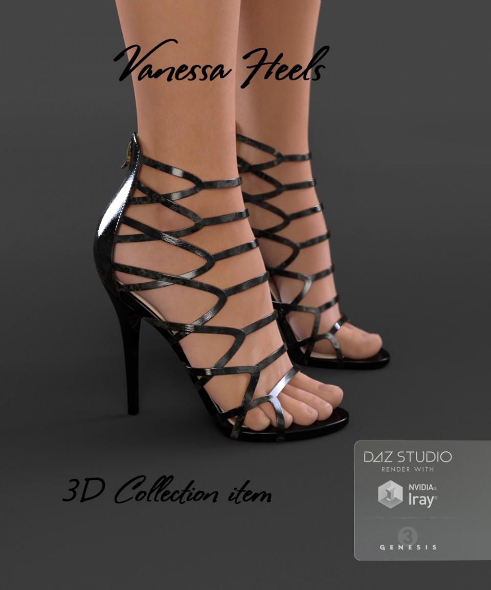 Vanessa Heels for Genesis 3 Female(s)_DAZ3D下载站