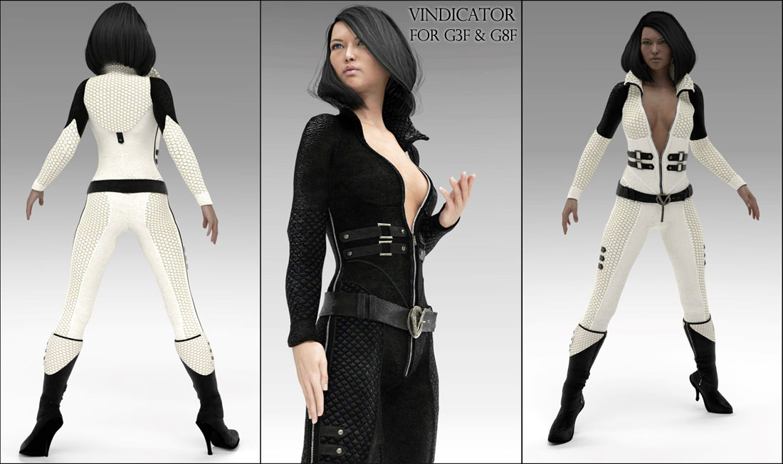 Vindicator Catsuit for G3F / G8F_DAZ3D下载站