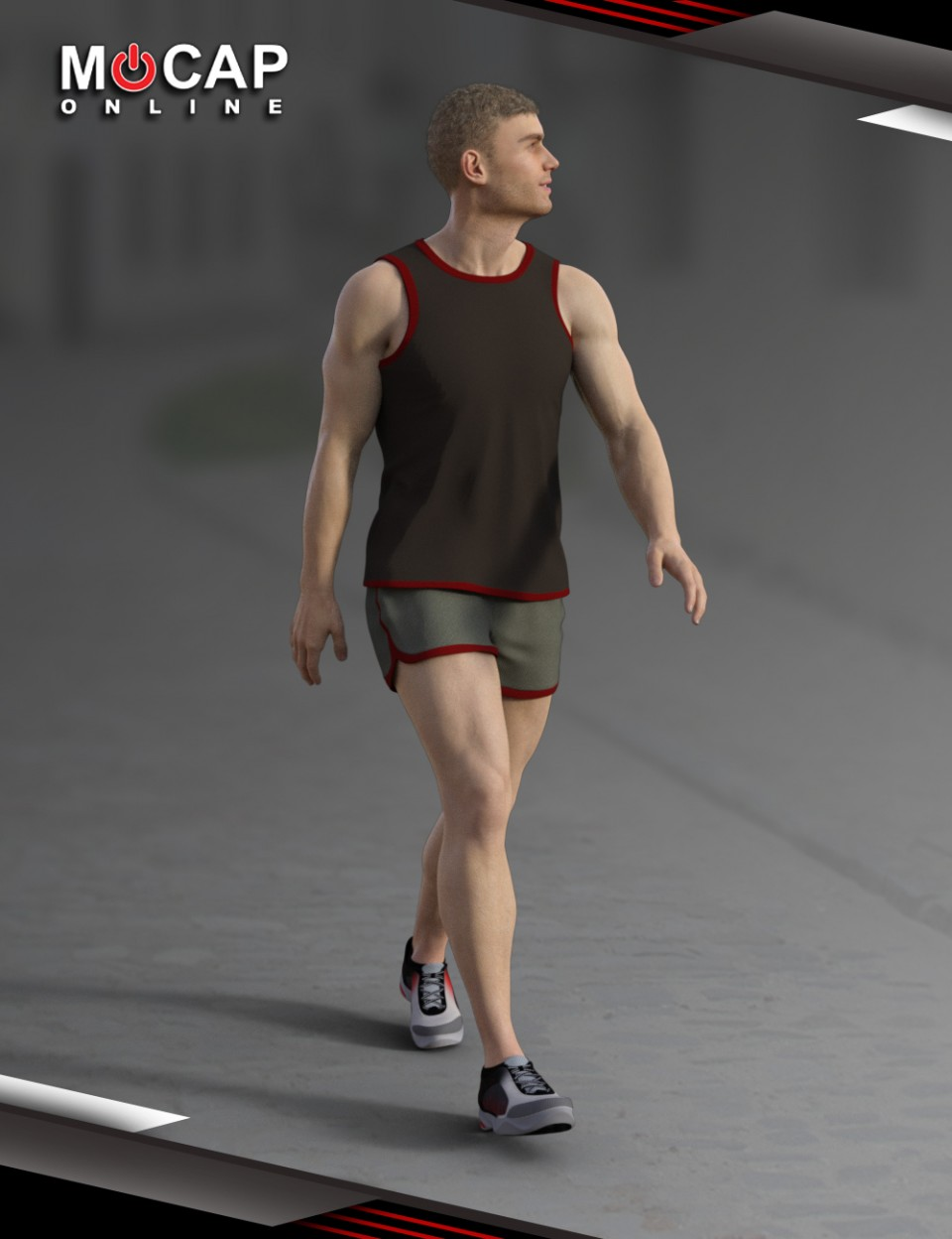 Walks Animation Collection – Michael 8_DAZ3D下载站