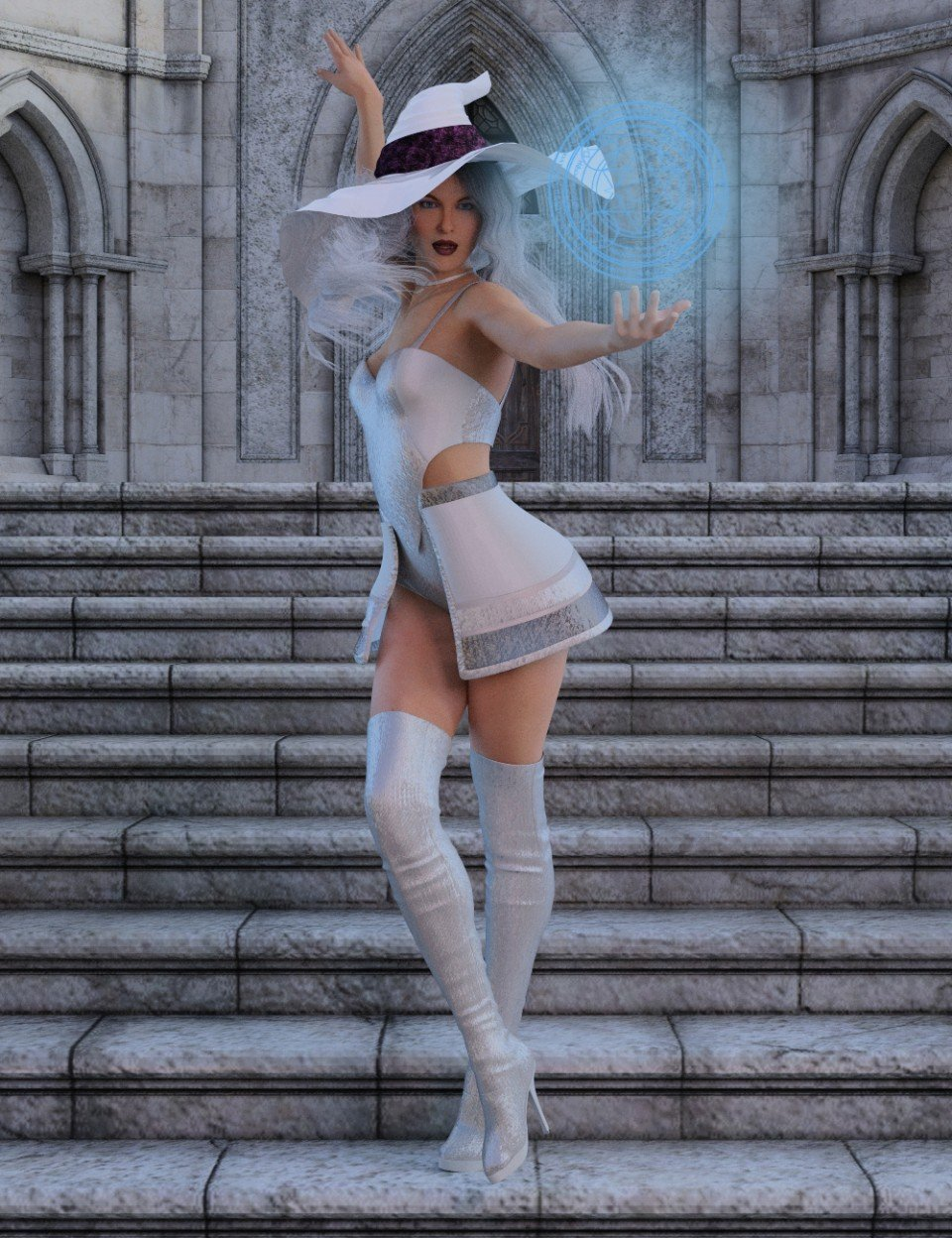 White Witch Poses for Genesis 8 Female_DAZ3D下载站