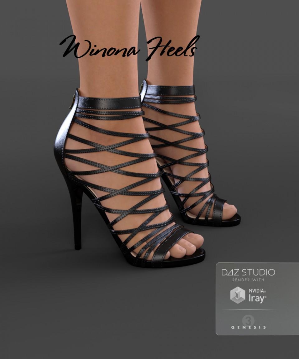 Winona Heels for Genesis 3 Female(s)_DAZ3D下载站