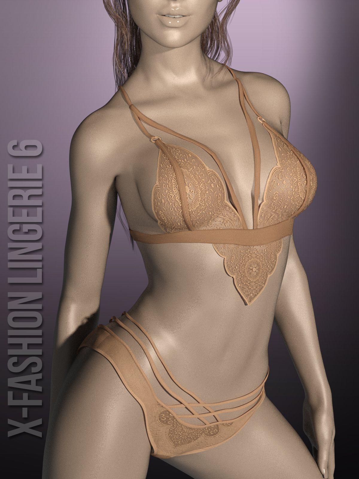 X-Fashion Lingerie6 for G3F_DAZ3D下载站