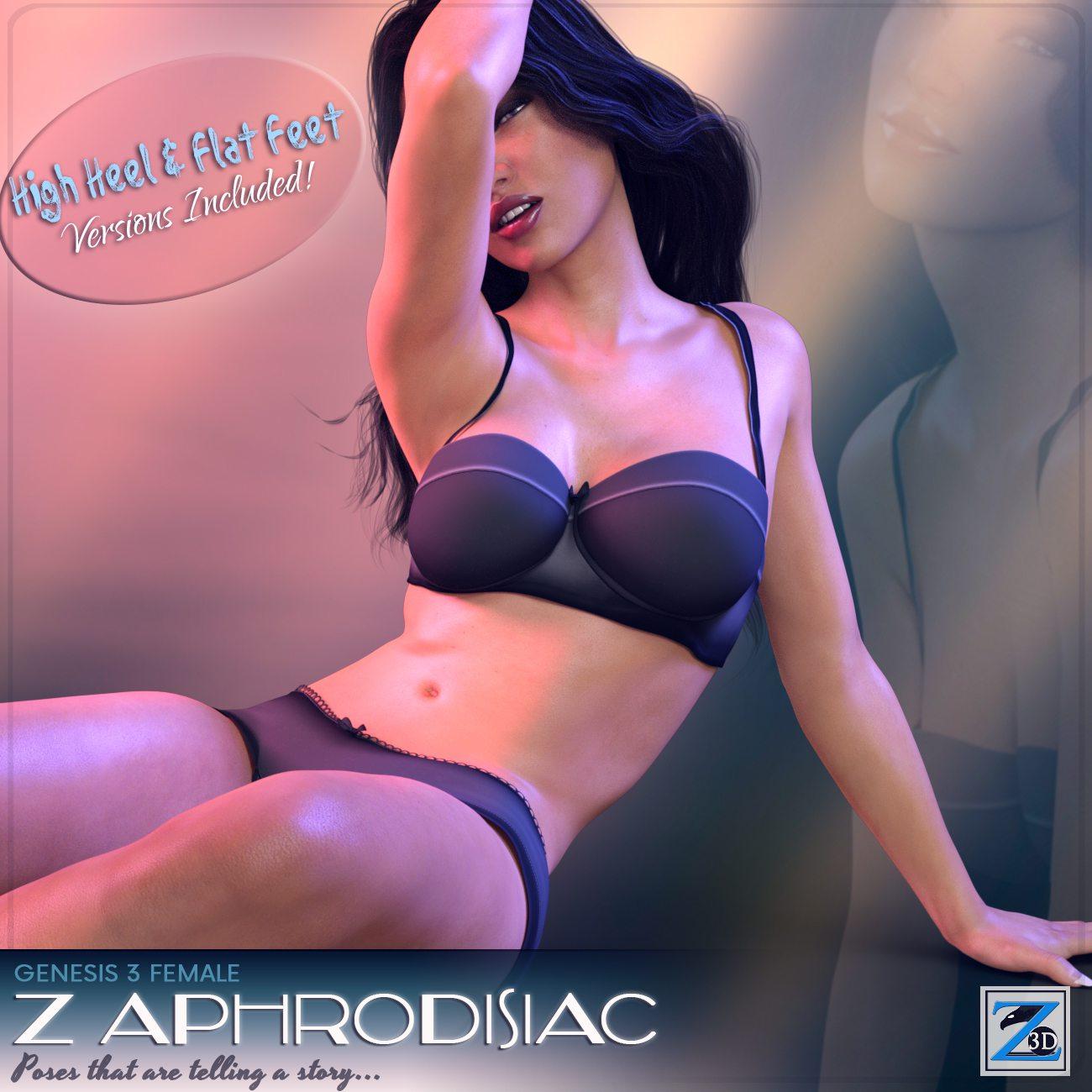 Z Aphrodisiac – Poses for Genesis 3 Female_DAZ3D下载站