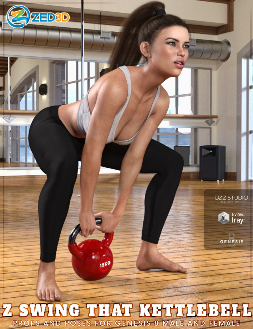 Z Swing That Kettlebell – Props and Poses for Genesis 8_DAZ3D下载站