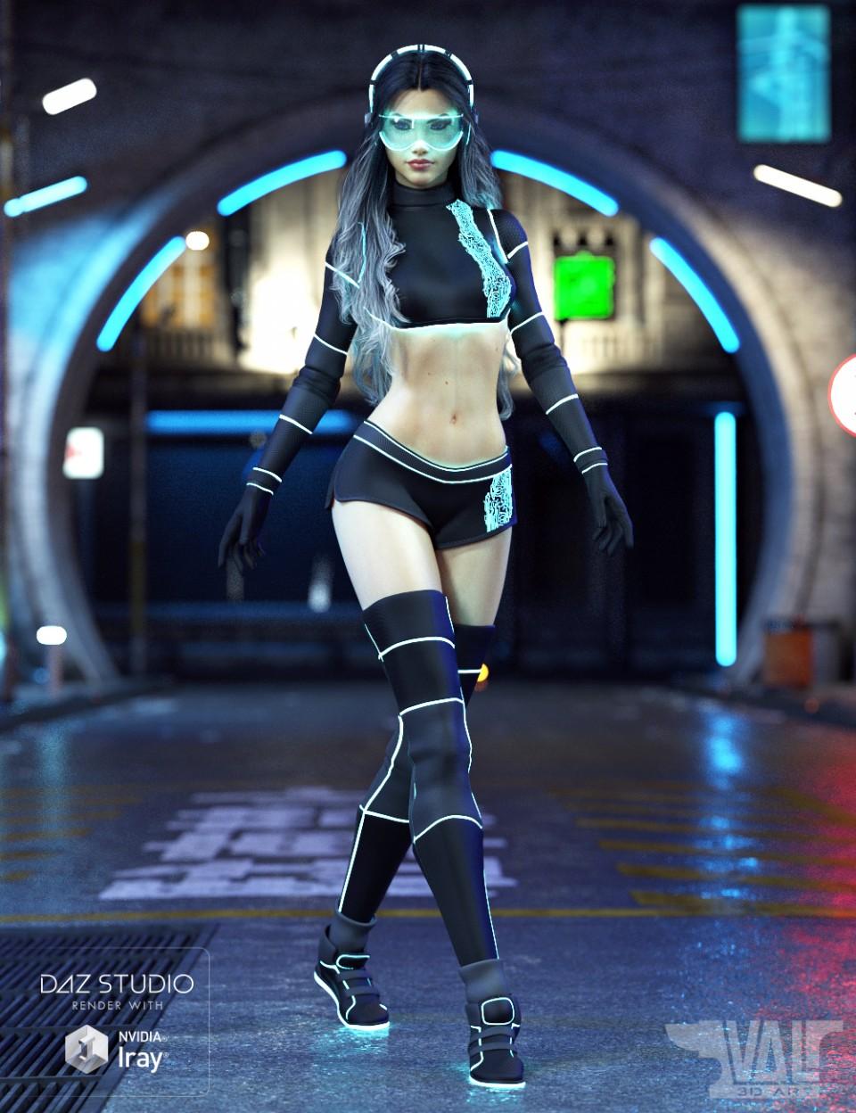 Zari SciFi Outfit for Genesis 8 Female(s)_DAZ3D下载站