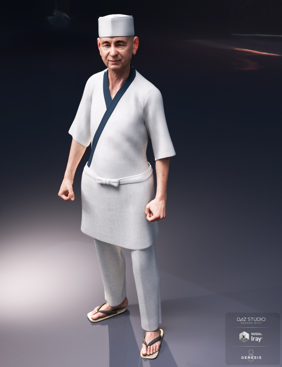 dForce Itamae Outfit for Genesis 8 Male(s)_DAZ3D下载站