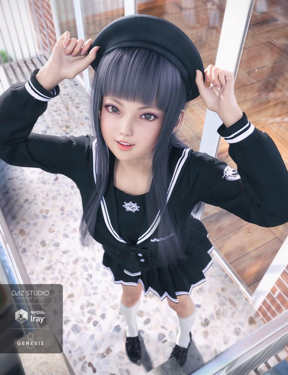 dForce JK Suit for Genesis 8 Female(s)_DAZ3D下载站
