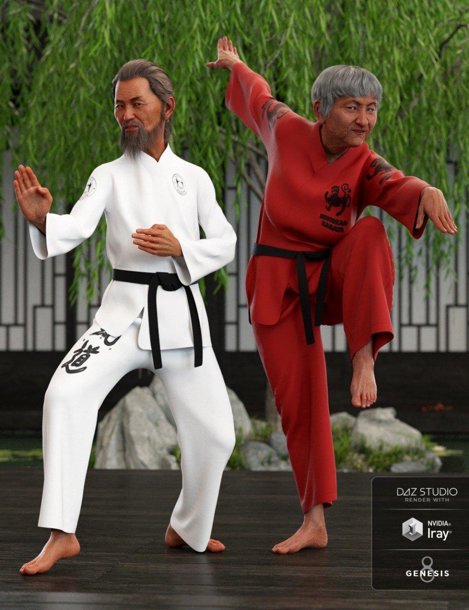 dForce Karate Gi Textures_DAZ3D下载站