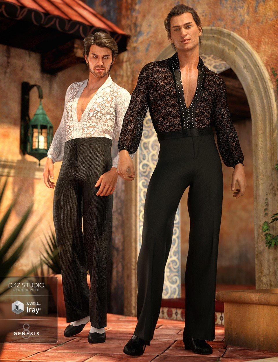 dForce Latin Dancer Outfit Textures_DAZ3D下载站