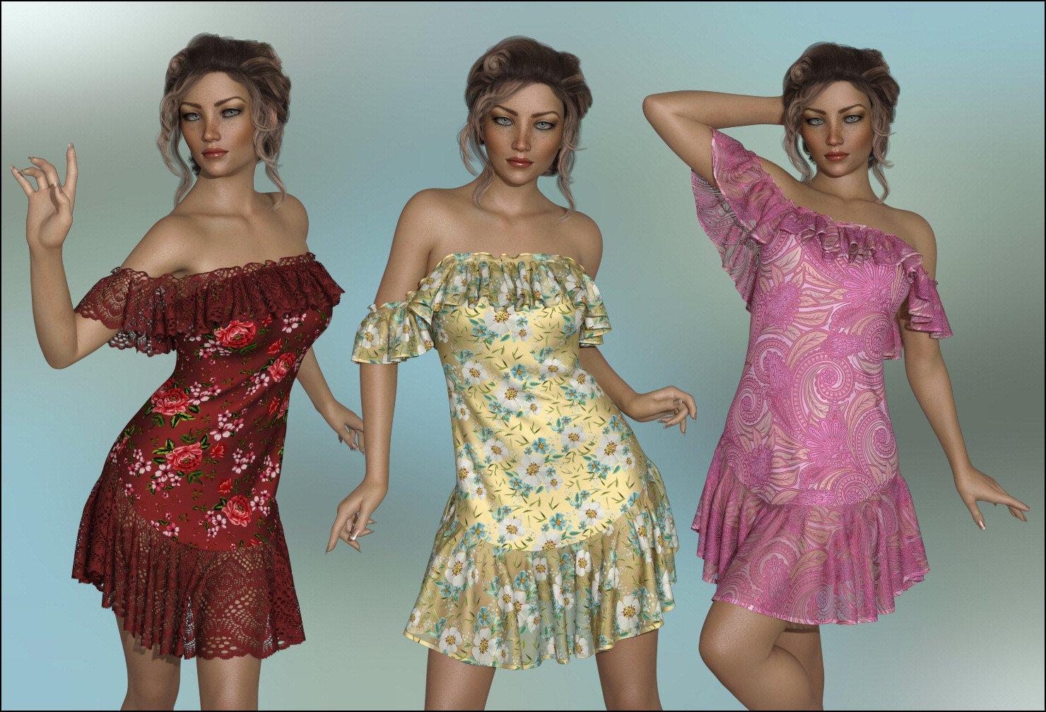 dForce – Octavia Dress for G8F_DAZ3D下载站