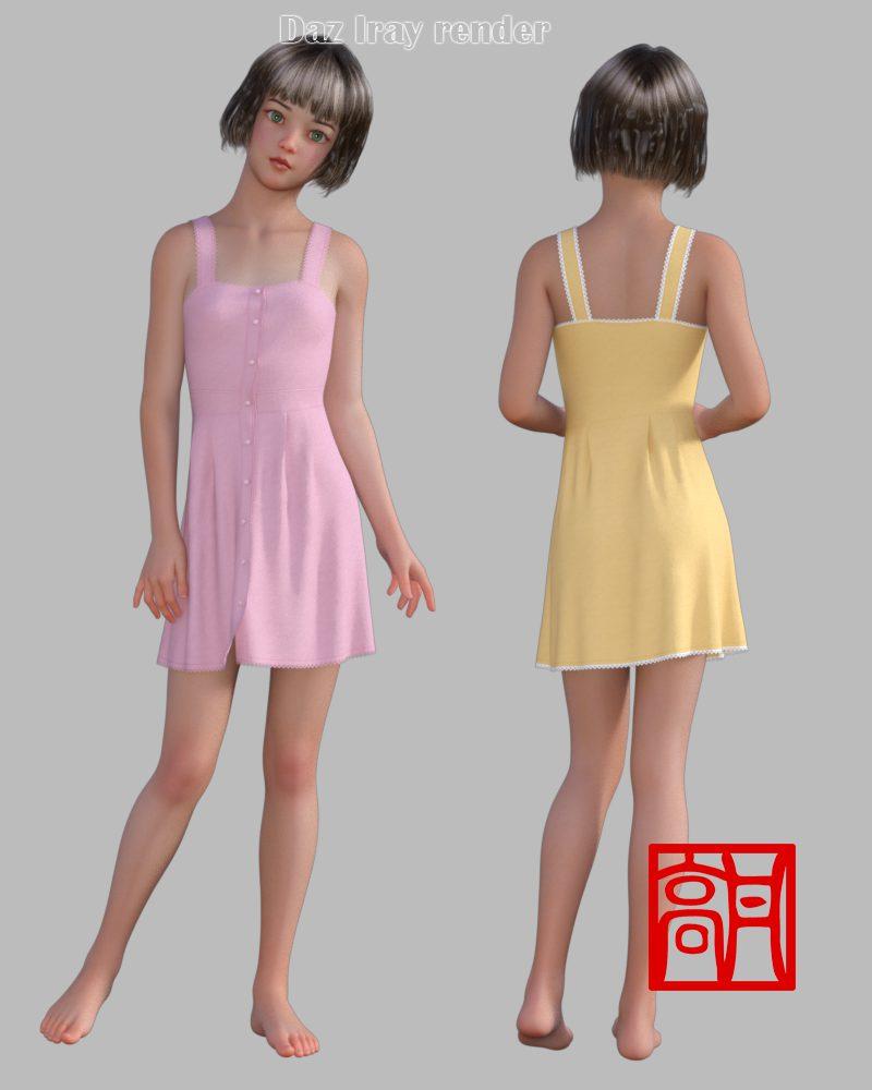 dForce Summer Dress 1 for Genesis 8 Female_DAZ3D下载站