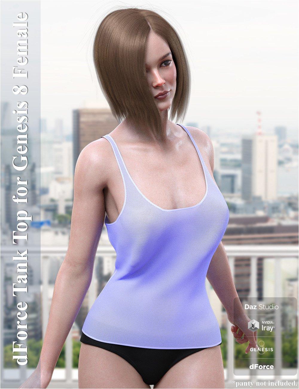 dForce Tank Top for Genesis 8 Female_DAZ3D下载站