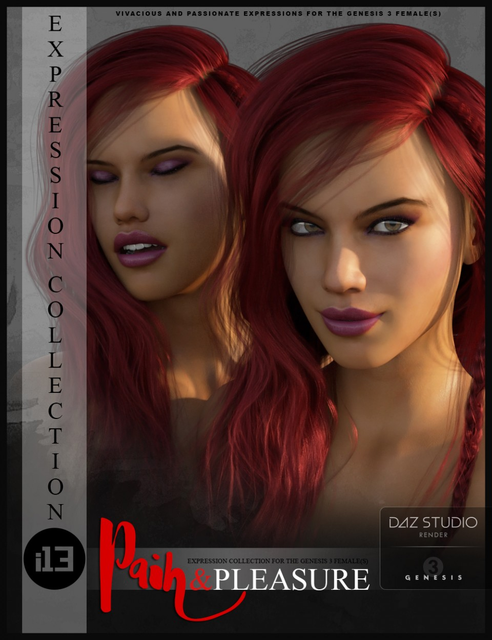 i13 Pain and Pleasure Expressions for the Genesis 3 Female(s)_DAZ3D下载站