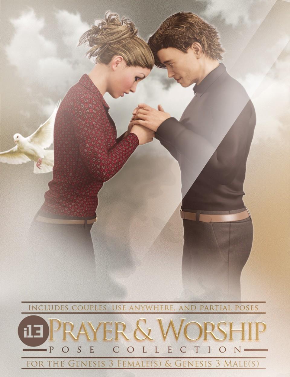 i13 Prayer and Worship Poses_DAZ3D下载站