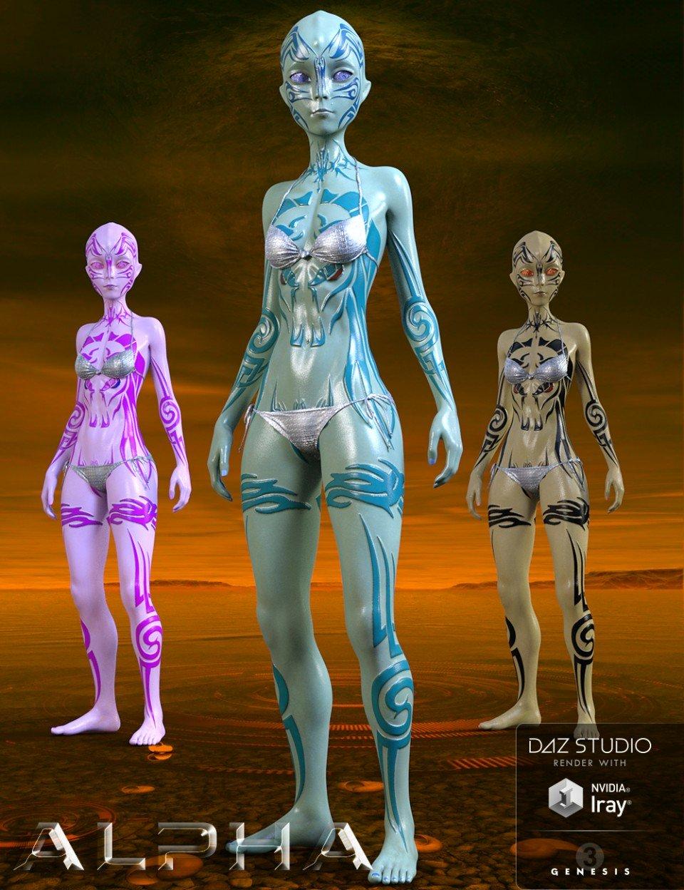 Alpha for Genesis 3 Female_DAZ3D下载站