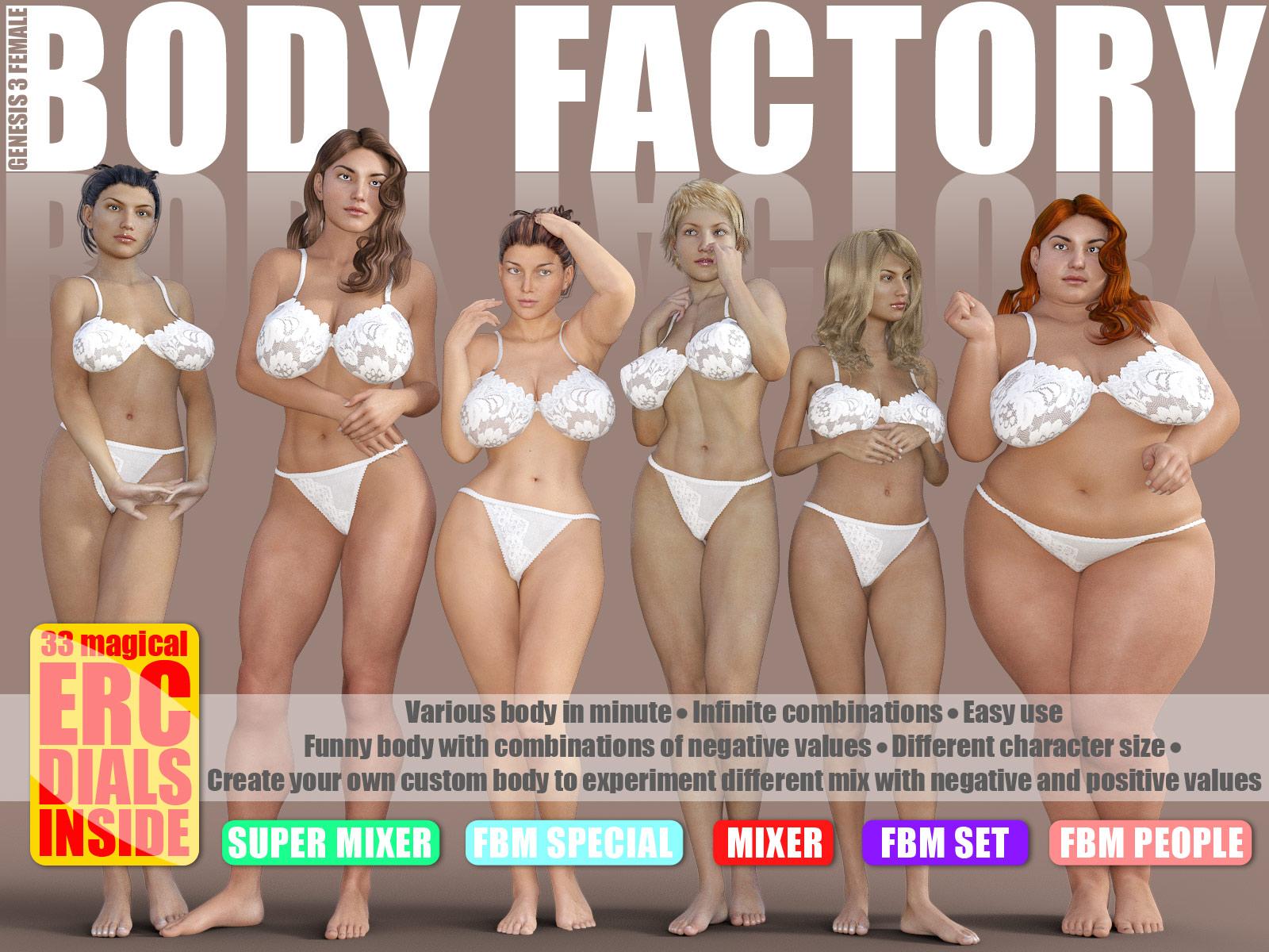 Body Factory for G3F_DAZ3D下载站