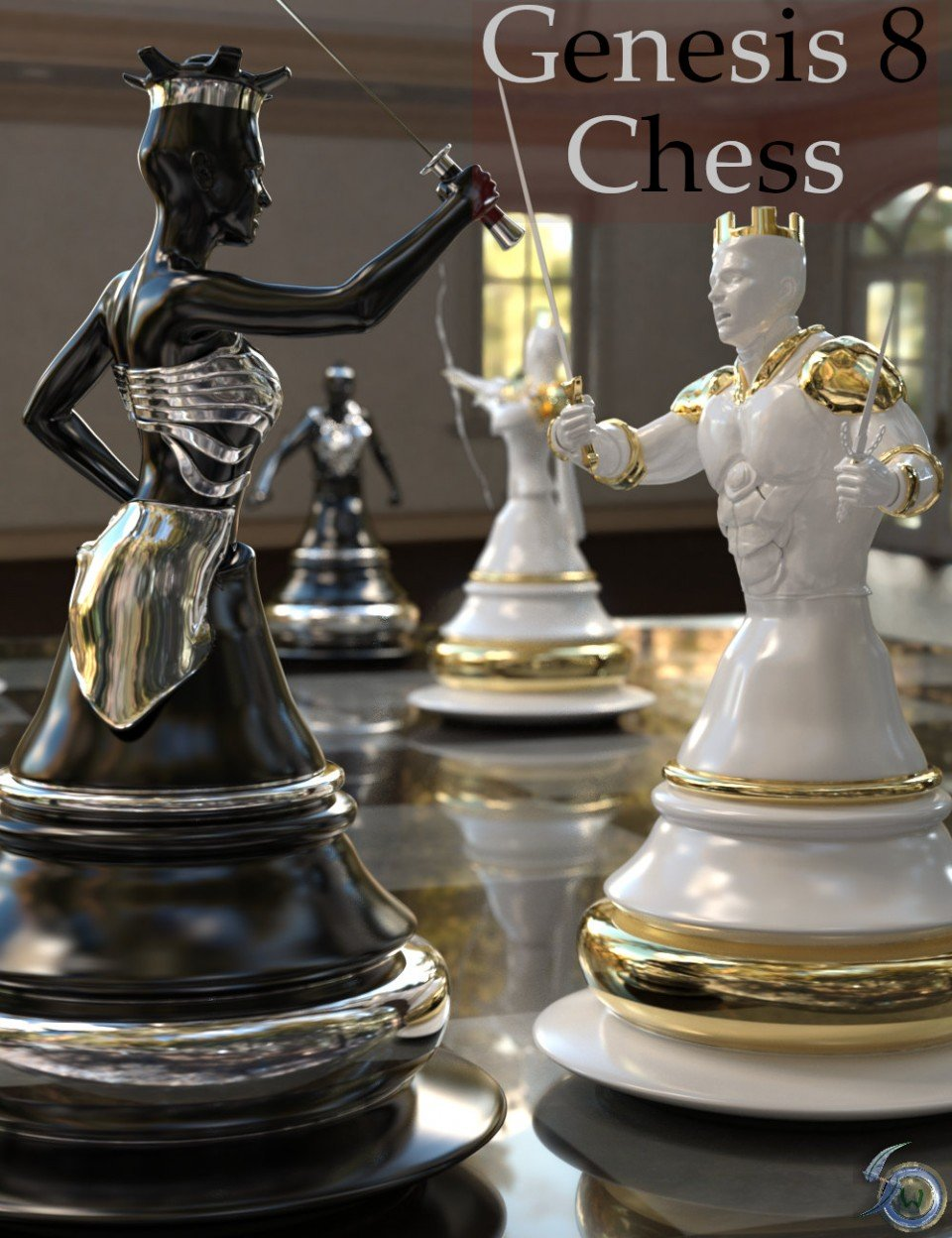 Chess for Genesis 8_DAZ3D下载站