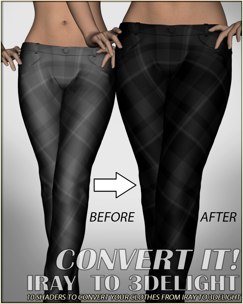 Convert It! – Iray to 3Delight_DAZ3D下载站