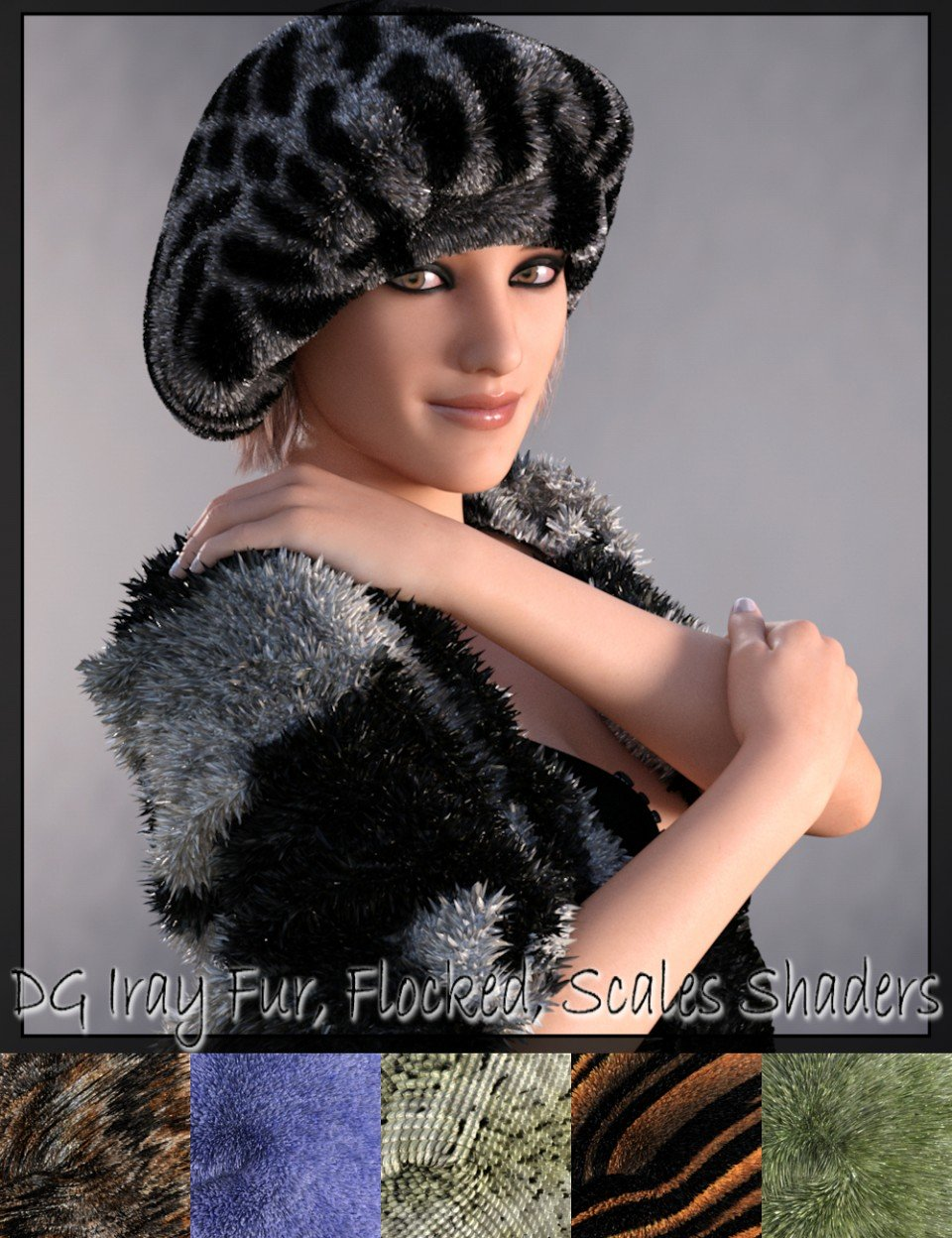 DG Iray Fur, Flocking, Scales Shader Presets_DAZ3D下载站