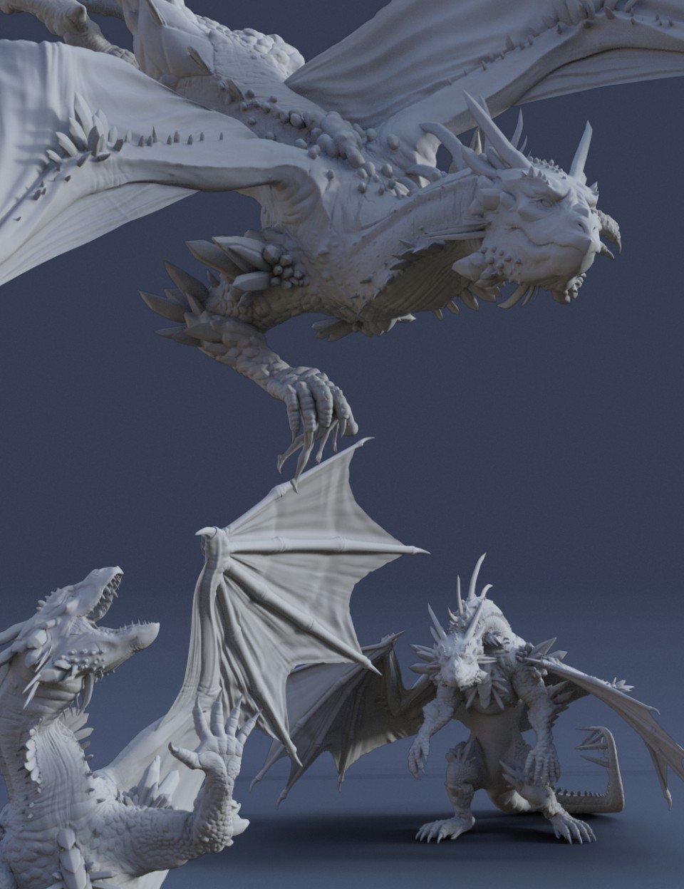 Dragon Reign Poses for Dragon 3 & Genesis 8 Female_DAZ3D下载站