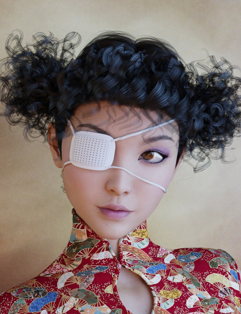 Eye-Patches for Genesis 3 Female(s) and Male(s)_DAZ3D下载站