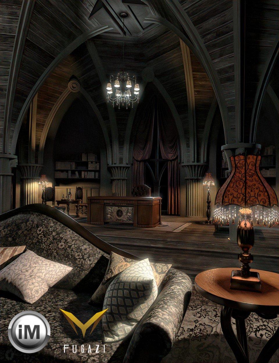 FG Gothic Hall_DAZ3D下载站