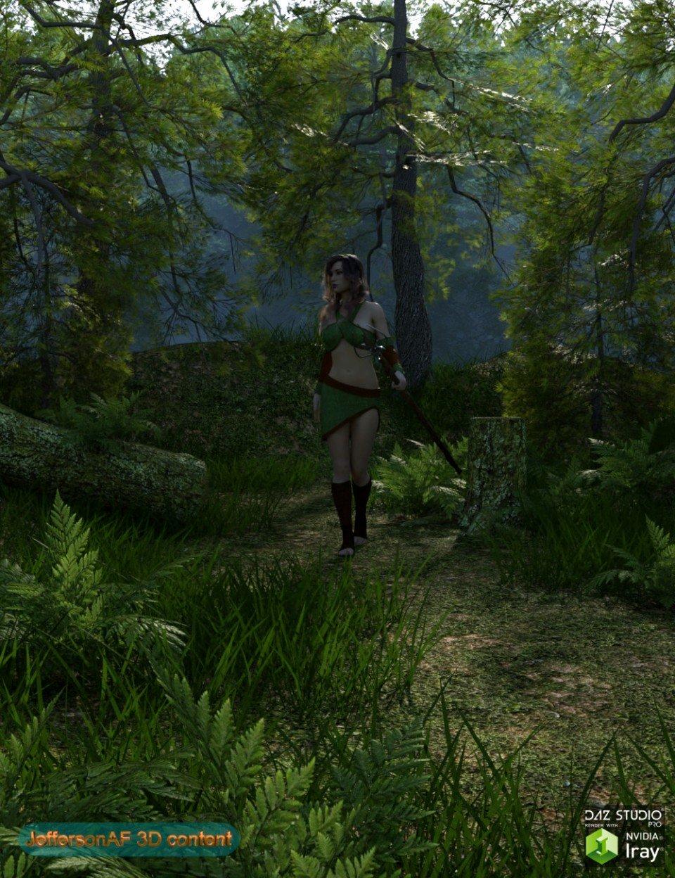 Foggy Forest_DAZ3D下载站