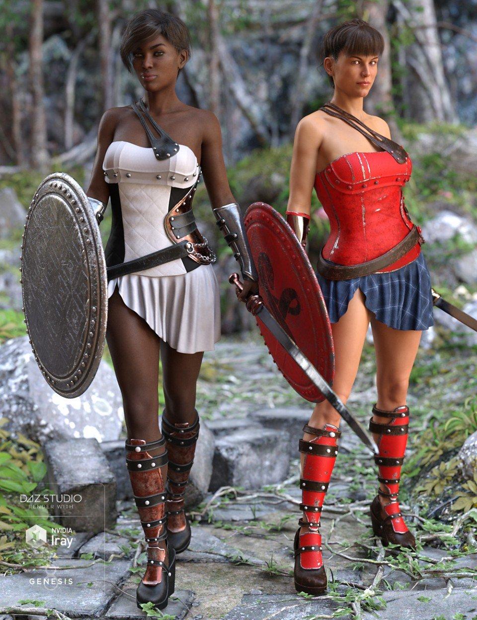 Goddess Minerva Outfit Textures_DAZ3D下载站
