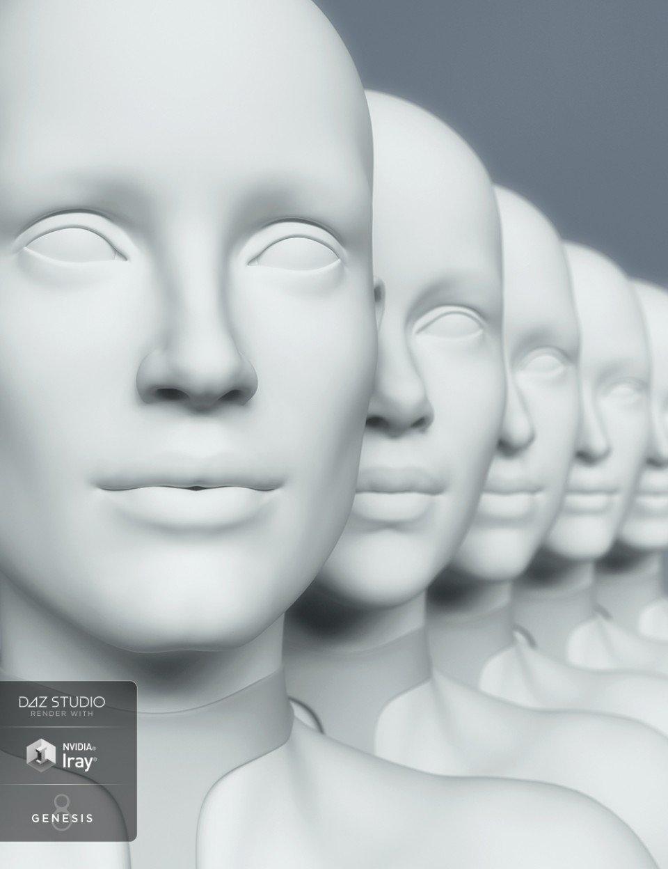 HD Head Morphs for Genesis 8 Female_DAZ3D下载站