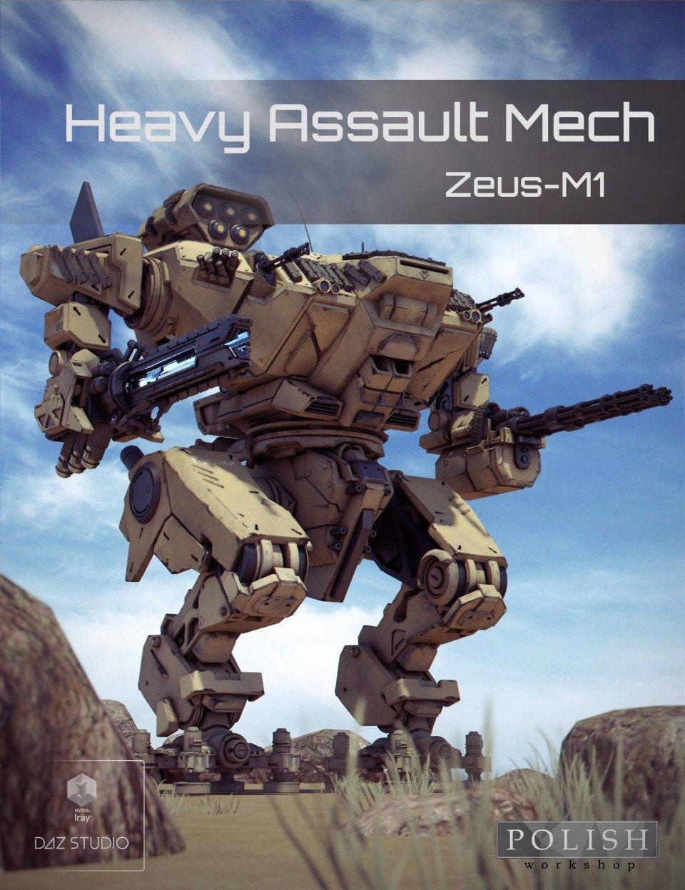 Heavy Assault Mech Zeus-M1_DAZ3D下载站